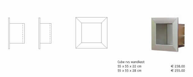 Specificaties en Prijzen wandkast Cube